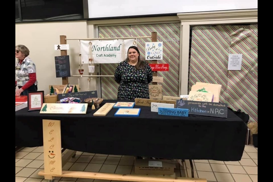 Chantal Artuso at the Algoma Farmers' Market in the Market Mall. Photo provided courtesy of Megan Deresti.