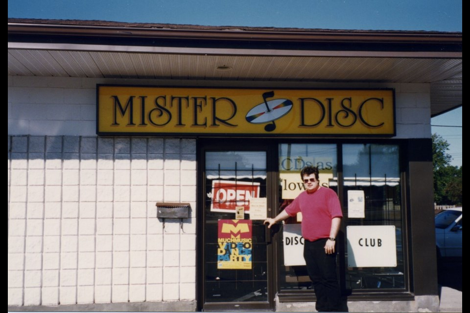 Todd Gordon opening Mister Disc at the Great Northern Road location. Photo provided by Todd Gordon.
