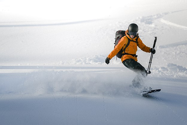 Christine Feleki of Squamish recently became the first woman to achieve her Association of Canadian Mountain Guides certification using a splitboard.