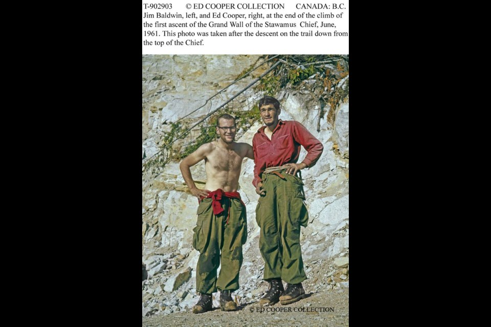 Ed Cooper and Jim Baldwin climbed the Chief's Grand Wall.