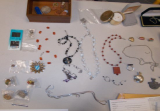 Some of the items recovered by police.