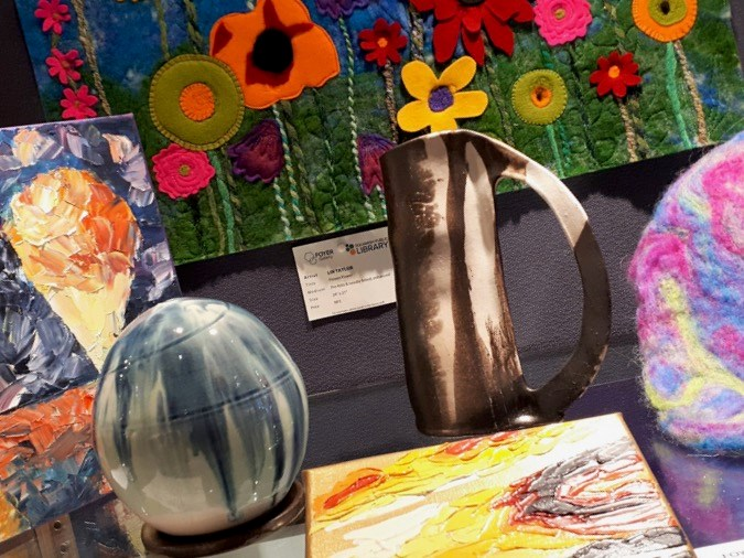 Art on display at the FOYER Gallery.