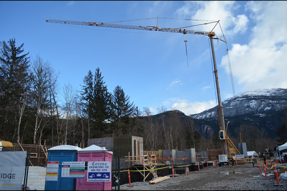 The site of the Buckley Avenue affordable housing project in Squamish.
