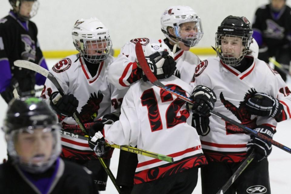 Squamish Minor Hockey action.