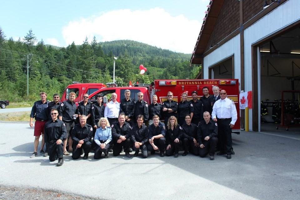 Outgoing Britannia Beach Fire Chief David Rittberg with his crew.