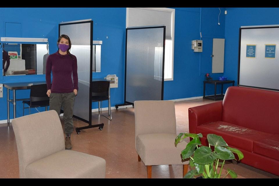 Jenna Becker at the Squamish Overdose Prevention Site. Photo by Jennifer Thuncher