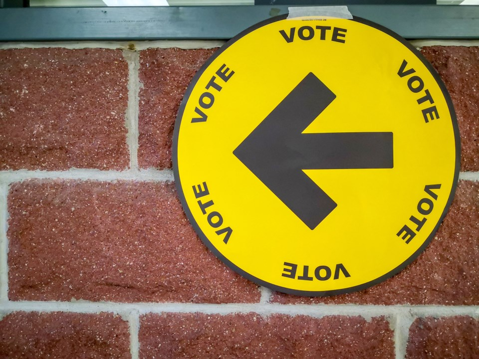 Federal election vote sign
