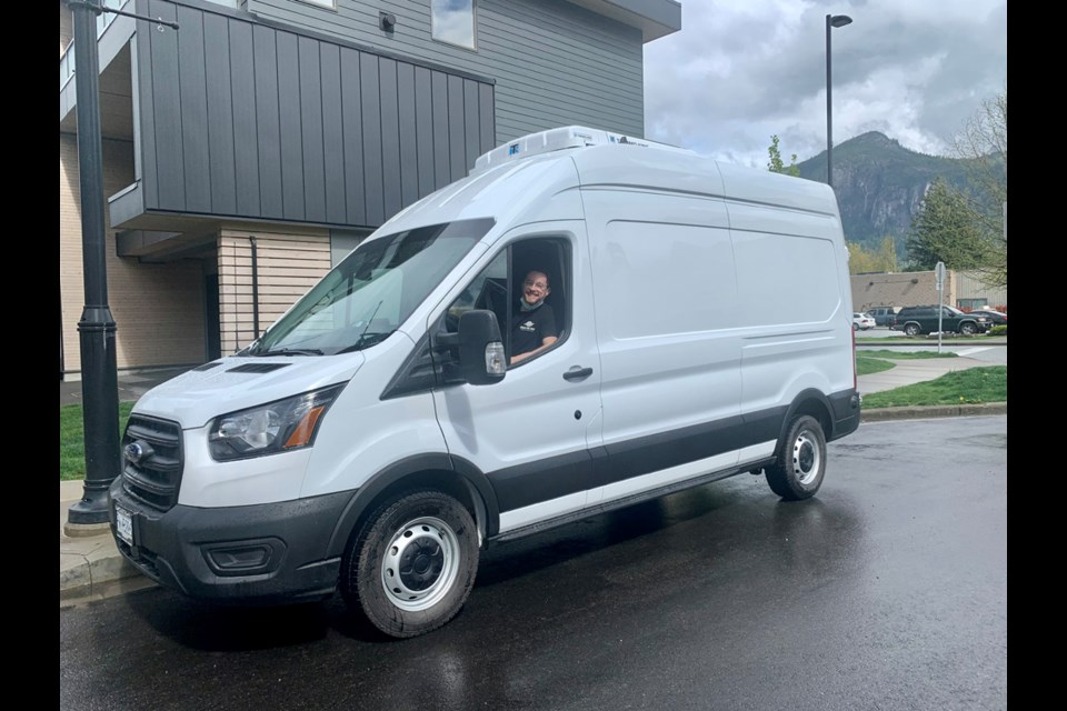 Food Recovery Driver Pascal Marcotte in the new Squamish van.