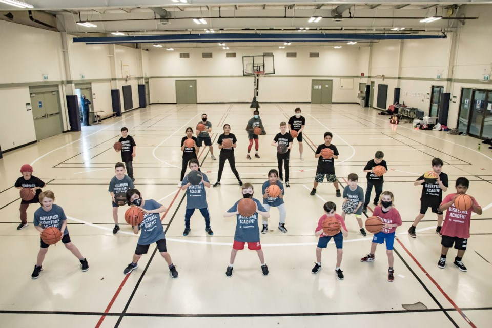 Players at the Hoop Reel Squamish Basketball Academy.