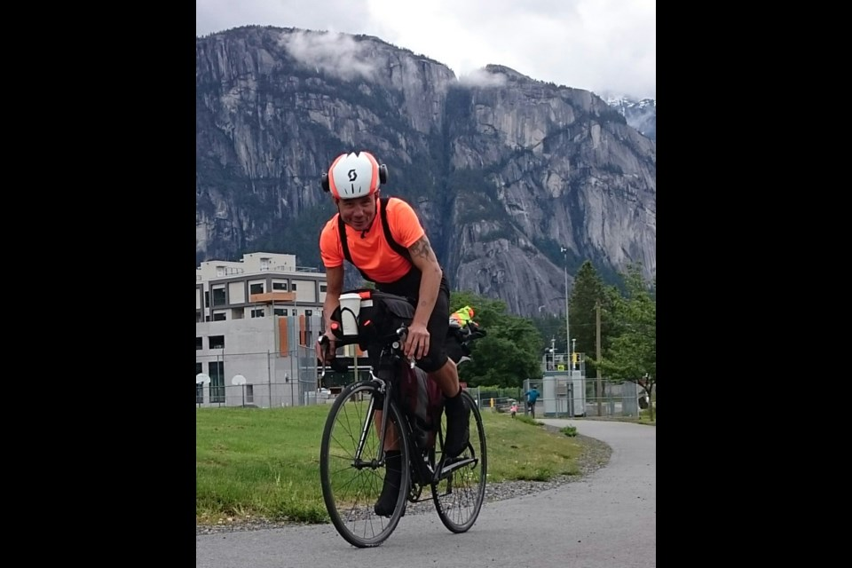 In memoriam: Jason Loutitt in Squamish in 2020 before he headed out to ride across Canada.