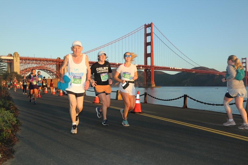 Ken Schellenberg at SF marathon