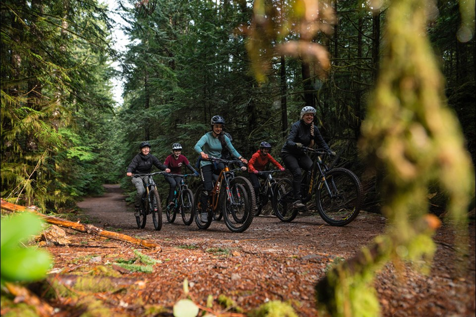Squamish women out for a ride on March 8.