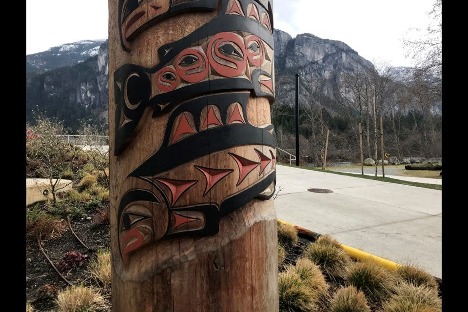 Kasalus (Richard Baker)'s pole is at Sirocco on Loggers Lane in Squamish.