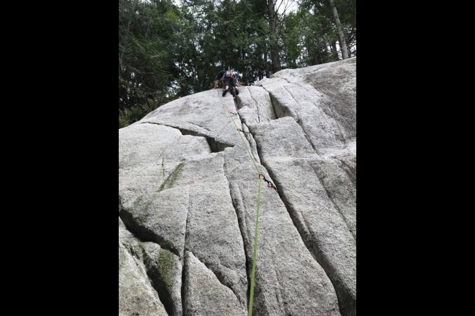 A popular climbing area in the Smoke Bluffs.