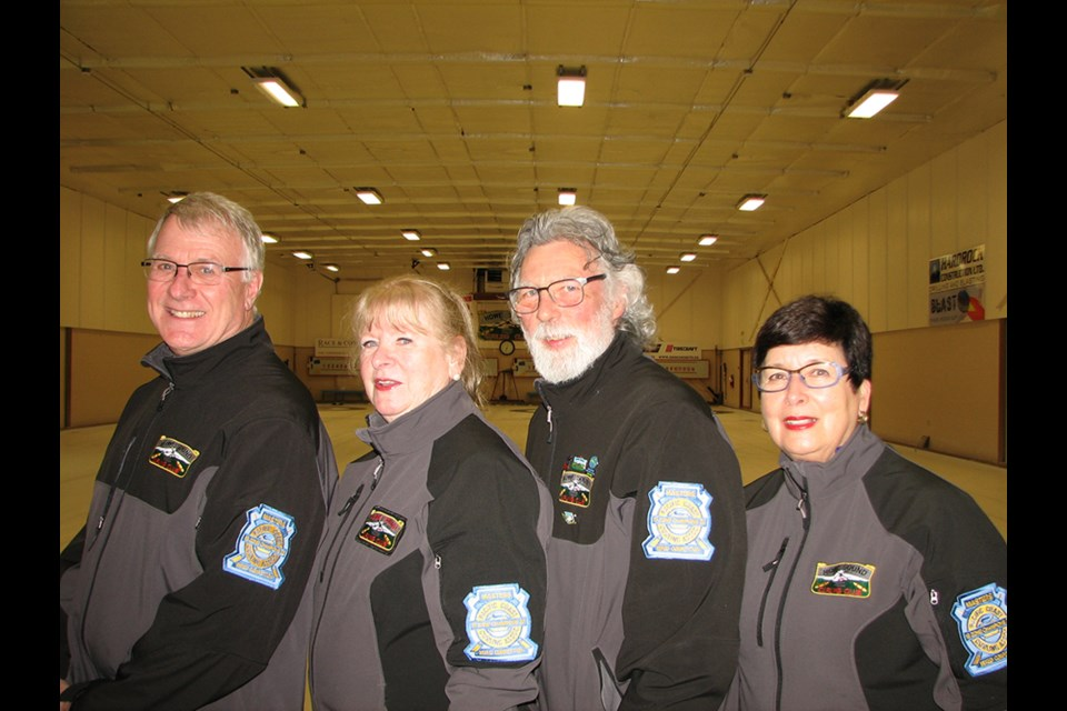 Don Dorosh (left) shown here with his mixed masters team of Brenda Sims, Paul Marlatt, and Eileen Walsh, has missed the 2020-21 Howe Sound Curling Club season.