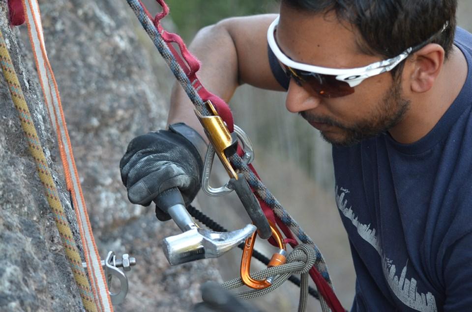 Kushwant Bussawah climbing 2