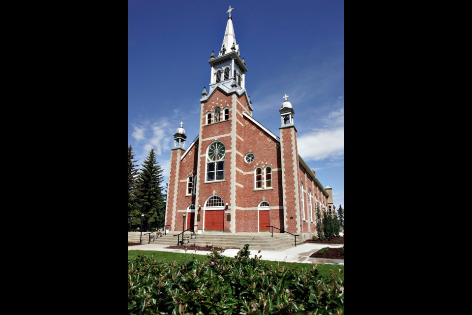 MODERN LOOK — The St. Jean Baptiste Church in Morinville in around 2007. LYLE ASPINALL/St. Albert Gazette