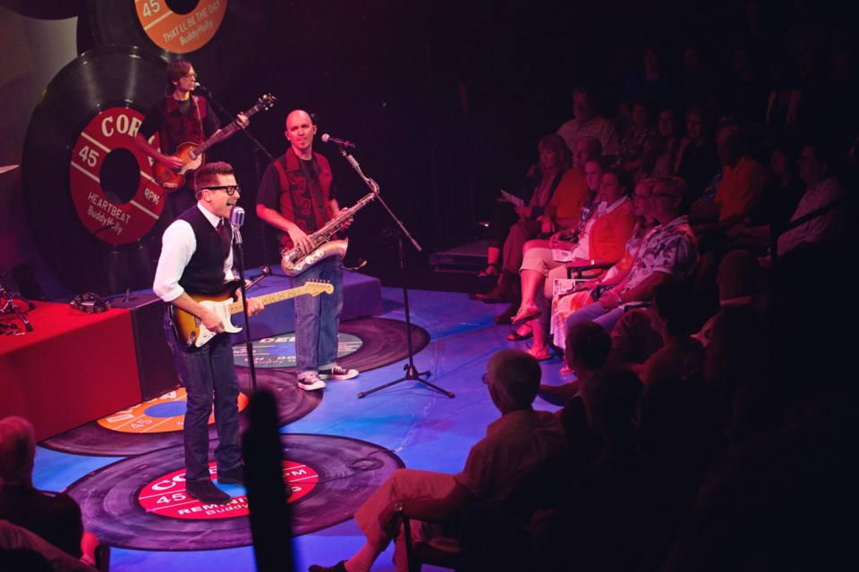 Writer-creator-singer Billy McGuigan brings to life the music of Buddy Holly in Rave On playing at Morinville Cultural Centre on March 21.