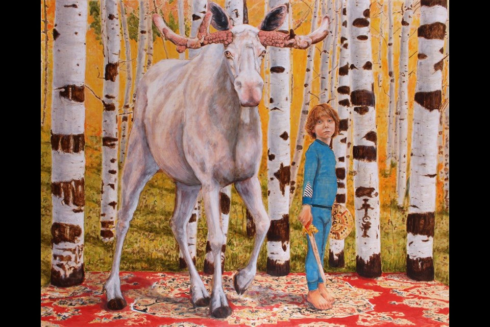 Young Ones by Edmonton artist Cynthia Fuhrer is now on display as part of the painter's exhibit called Splendid String at the Art Gallery of St. Albert until April 27.