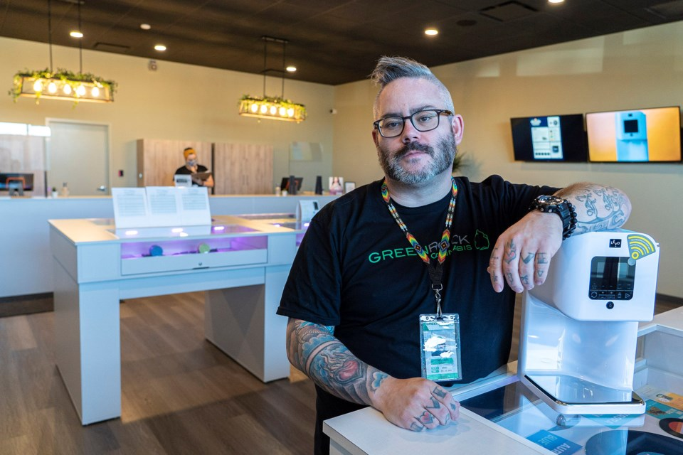 Daniel Huber is both a Red Seal Chef and the interim manager for Green Rock Cannabis in the city's north end. The store recently hosted a cannabis cooking demo and plans another later in August. CHRIS COLBOURNE/St. Albert Gazette