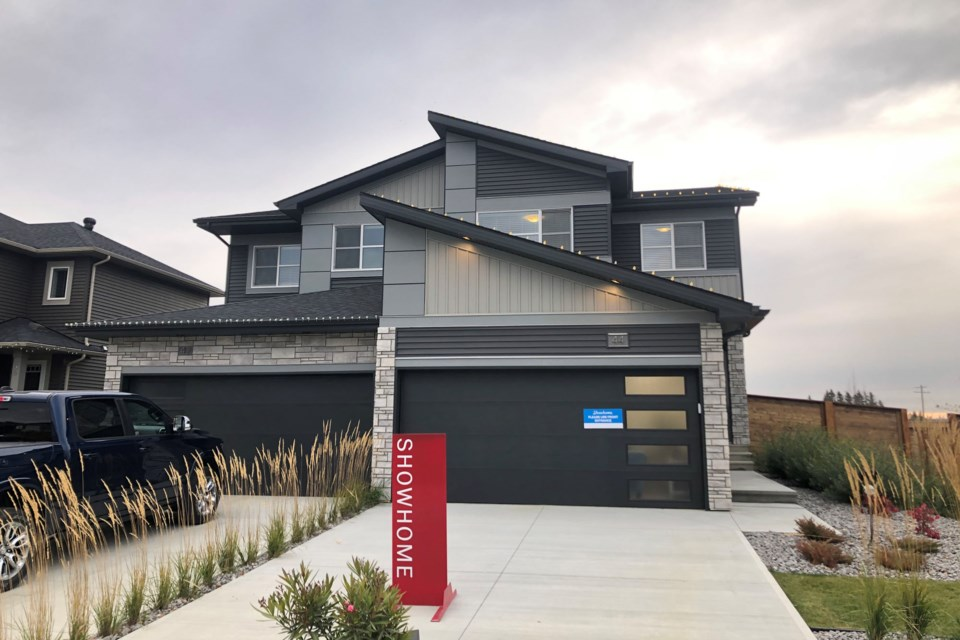 SEEING DOUBLE – Cami Comfort Homes in St. Albert has their bet on quality built duplexes over expensive single-family homes. BRITTANY GERVAIS/St. Albert Gazette