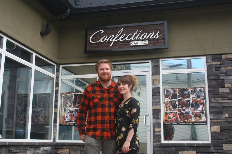 Confections Cake Co. owners Jarrett Delaney and Brittany Allen are disappointed in the lack of clarity in the latest round of provincial restrictions, and the lack of time given for business to respond. ANNA BOROWIECKI/St. Albert Gazette