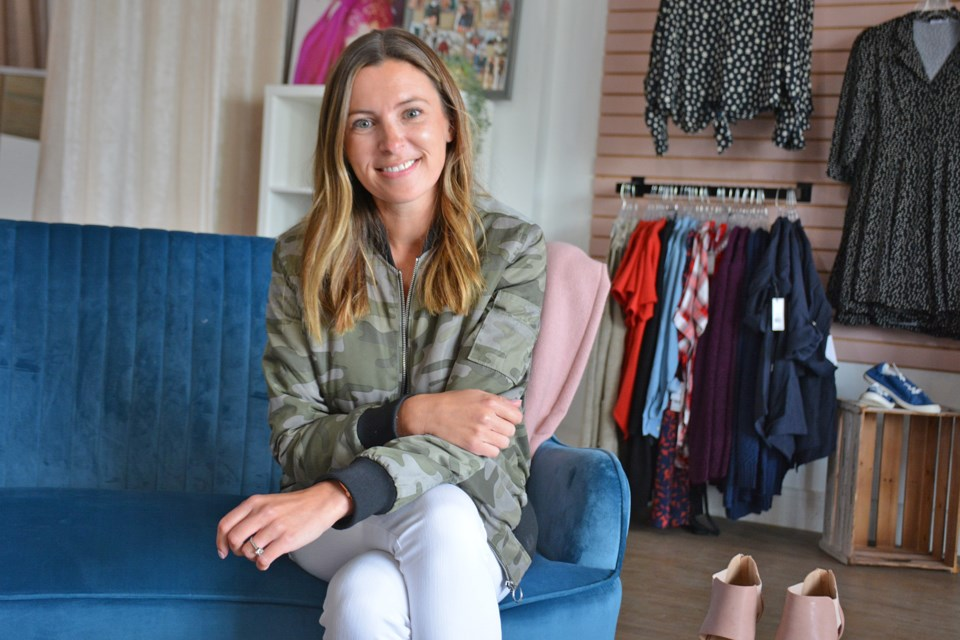 Jenna Hill, owner of Frock Box, said  people are ready to ditch the sweatpants for more casual, comfortable looks. BRITTANY GERVAIS/St. Albert Gazette