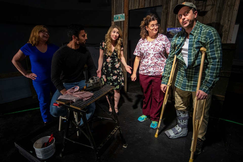 Anne-Marie Smyth, Rohit Kataria, Monica Lefurgey, Christine Gold and Rob Beeston star in the St. Albert Dinner Theatre's season opener Homecoming. A comedy about a farmer passing on the family farm to the next generation. But it's difficult to let go and complications arise. CHRIS COLBOURNE/St. Albert Gazette