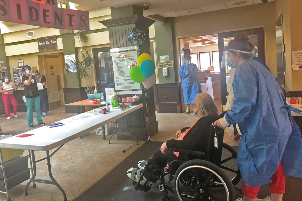 Citadel Care Centre staff welcomed back seniors this week after the Citadel Mews West fire forced all 129 residents to evacuate on May 6. SUPPLIED