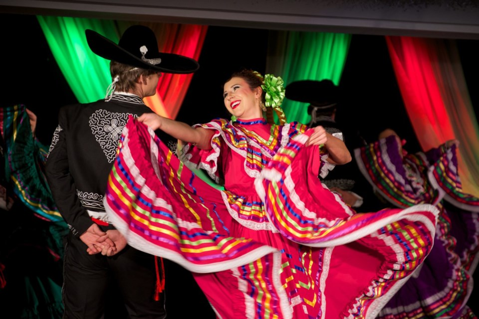 Katie Calverly and Stano Giertl perform a Mexican courtship dance during Vinok Worldance's upcoming annual tradition, Christmas Around the World, taking place Nov. 21 to 24. DOYLE C. MARKO/Photo