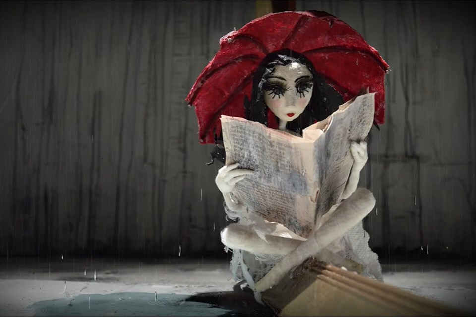 Zsofia Opra-Szabo's gorgeous stop motion animation work, Sophia, is free for all to view online during the fest. It runs until May 1. ZSOFIA OPRA-SZABO/Photo