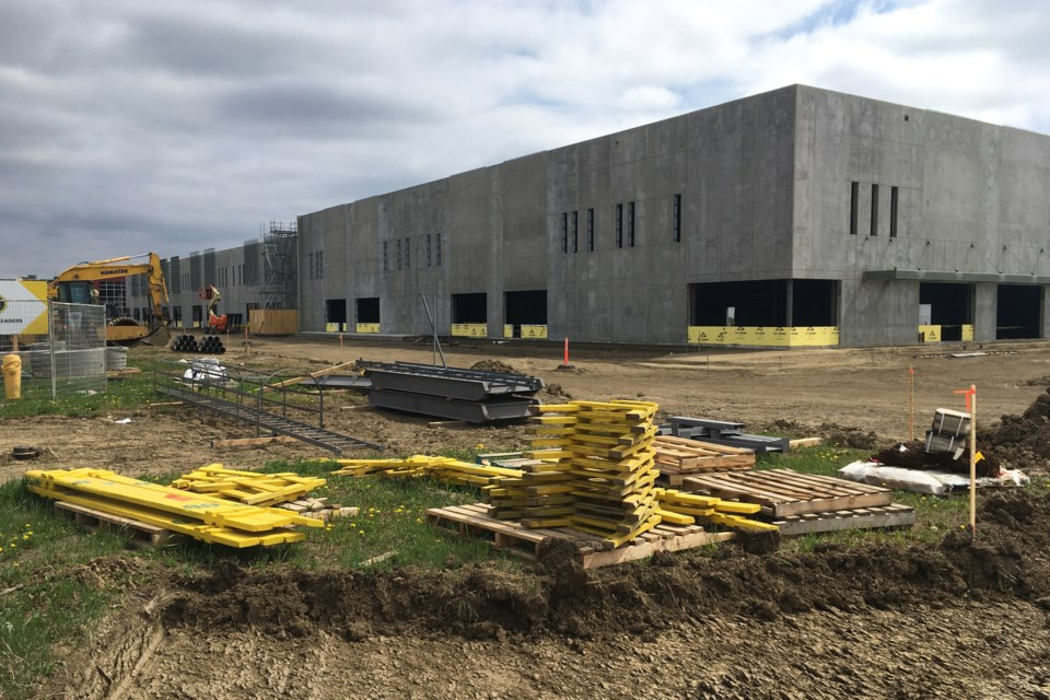 Dynamyx Gymnastics Club is hoping to move into their new building in Campbell Business Park by early September. Once finished, the gymnastics club will take up the largest bay at 24,512 sq. ft.SUBMITTED