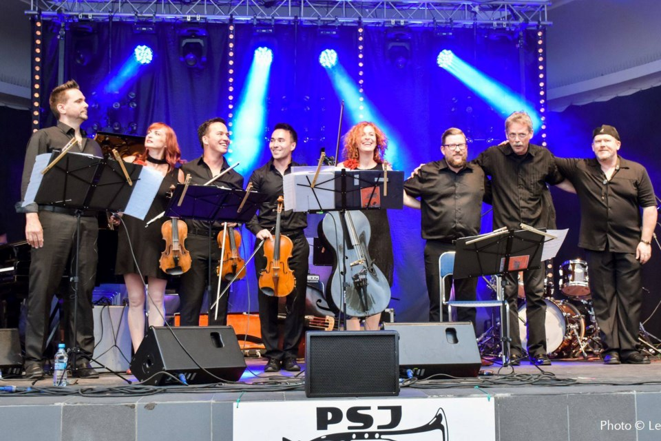 The Obsessions Octet, seen here on tour, have received a nod in the category Jazz Artist of the Year for the Western Canadian Music Awards held Sept. 25 to Oct. 9.