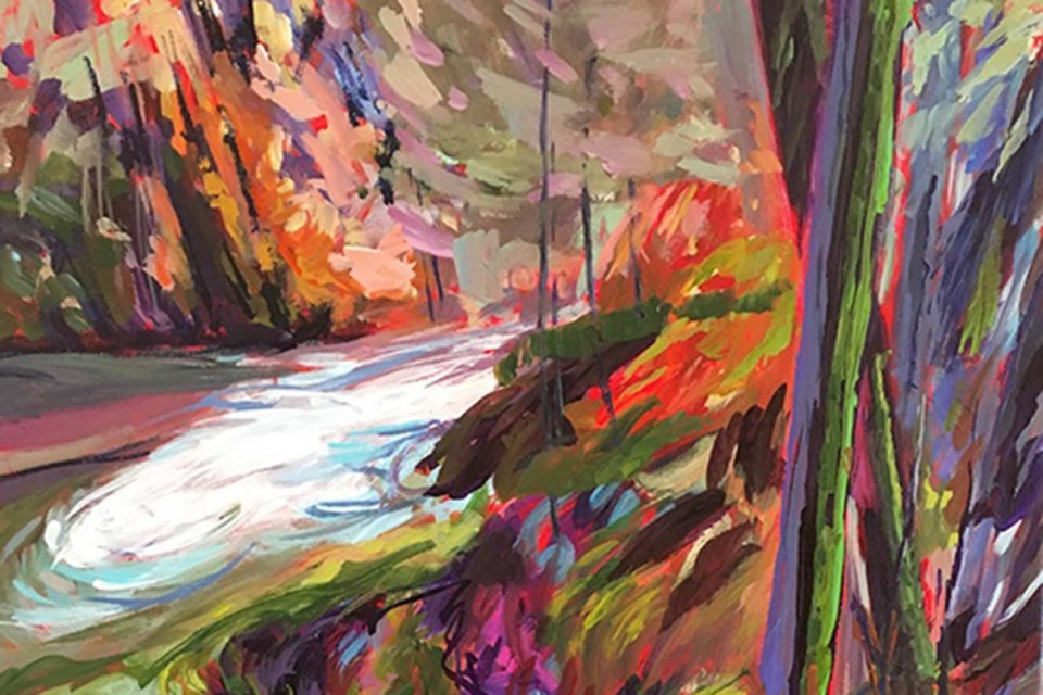 Moss and Moisture by Claudette Pelletier-Hannah. The Painters Guild member will be one of this weekend's featured artists at the Whyte Avenue Art Walk, taking place at the former Army and Navy Store.