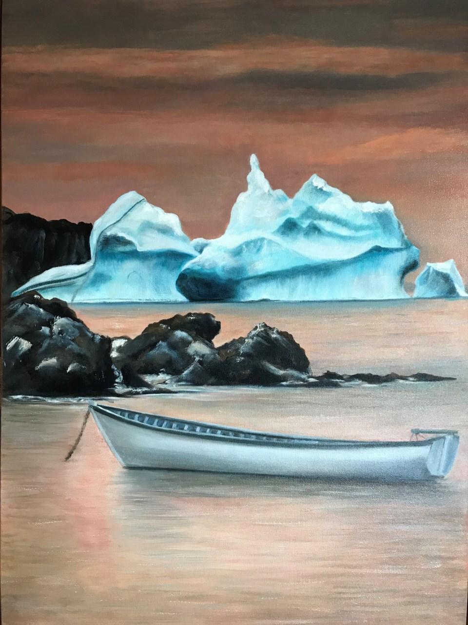 2310 portfolio sh Val Boyko - Icebergs of Newfoundland - Oil on Canvas