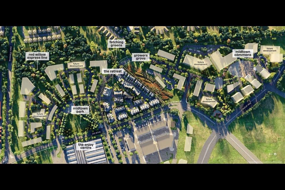 The landscape plan for Averton's Midtown development.