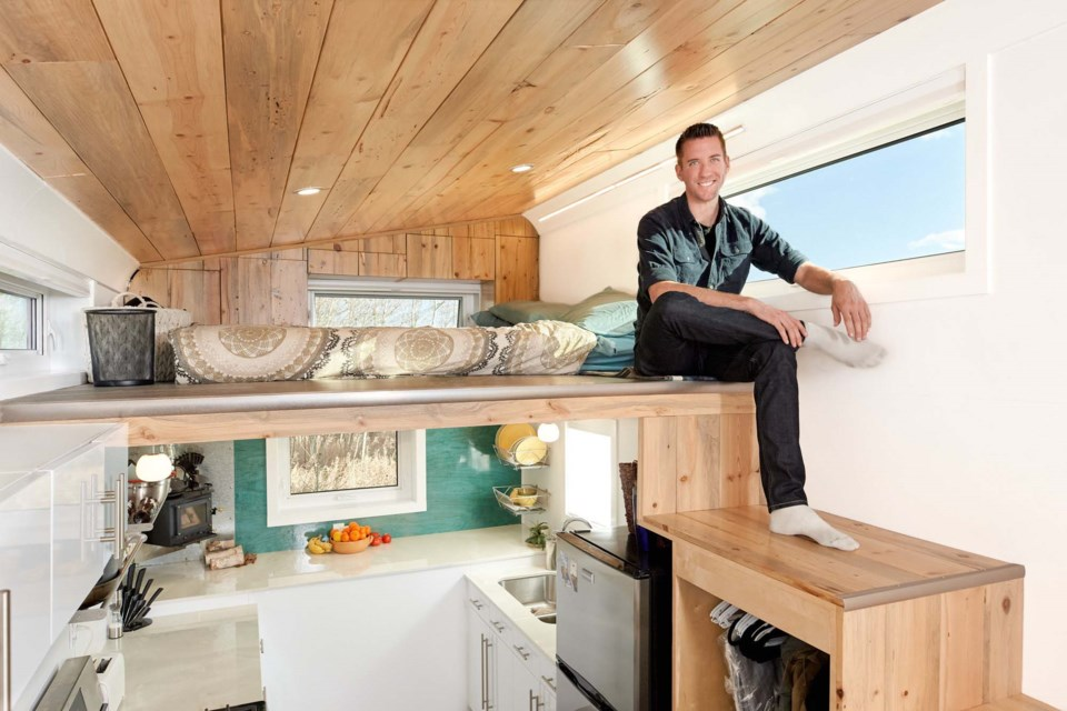 Kenton Zerbin is big on tiny. The Sturgeon County man has been promoting the building of tiny homes as a key lifestyle choice that not only promotes sustainability but affordability. Living small helps you enjoy your life, he says. KENTON ZERBIN/Photo