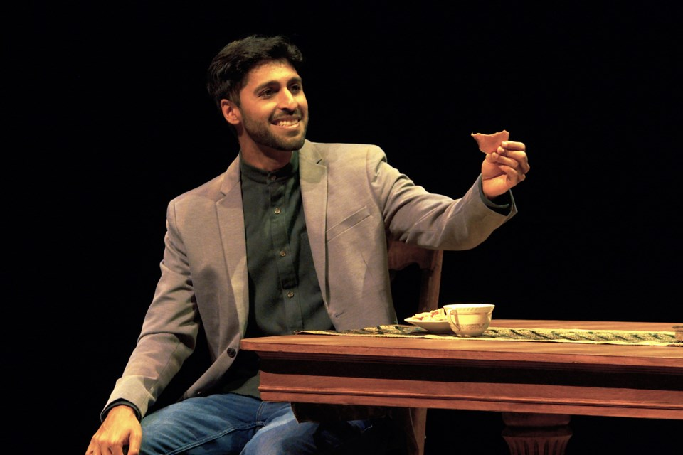Adolyn H. Dar stars as Ravi Jain, a first generation Canadian of Indian descent, who tells a story of his parents' funny and awkward attempt at creating an arranged marriage in the Citadel Theatre's production of A Brimful of Asha running until Nov. 15.