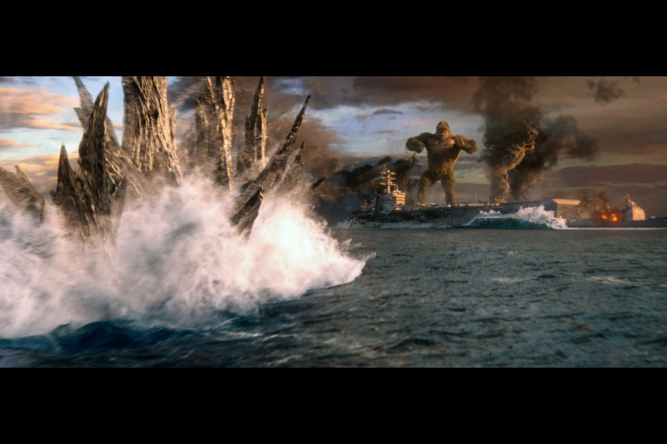 Monsters smash while they're having a bath. If you've watched the trailer then you already know about the battle at sea in Godzilla vs. Kong.