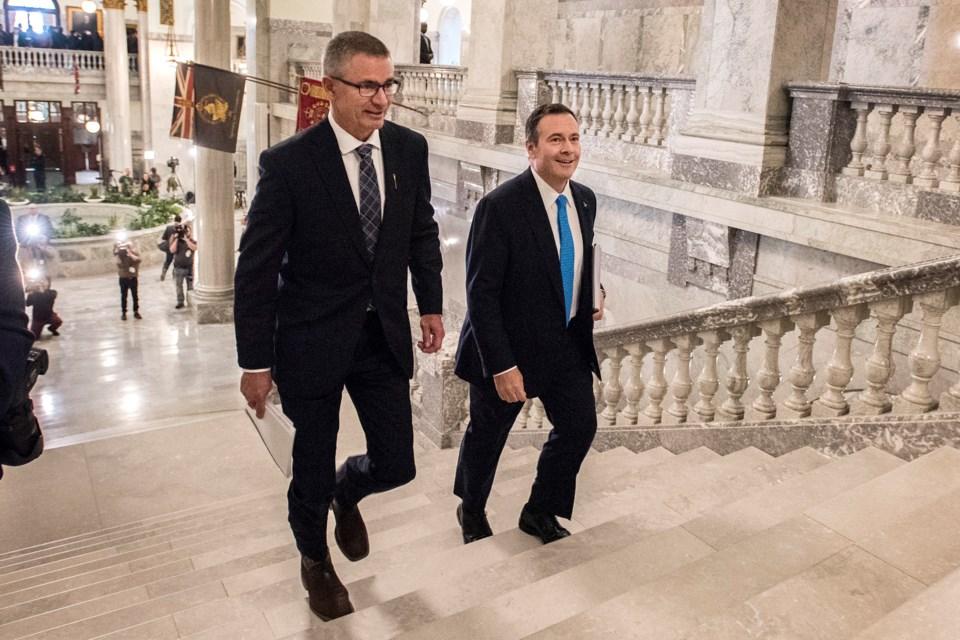 Budget Day Travis Toews Jason Kenney