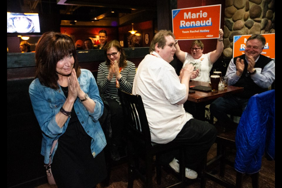 NDP MLA-elect Marie Renaud retained her seat in the St. Albert riding on Election Day. CHRIS COLBOURNE/St. Albert Gazette