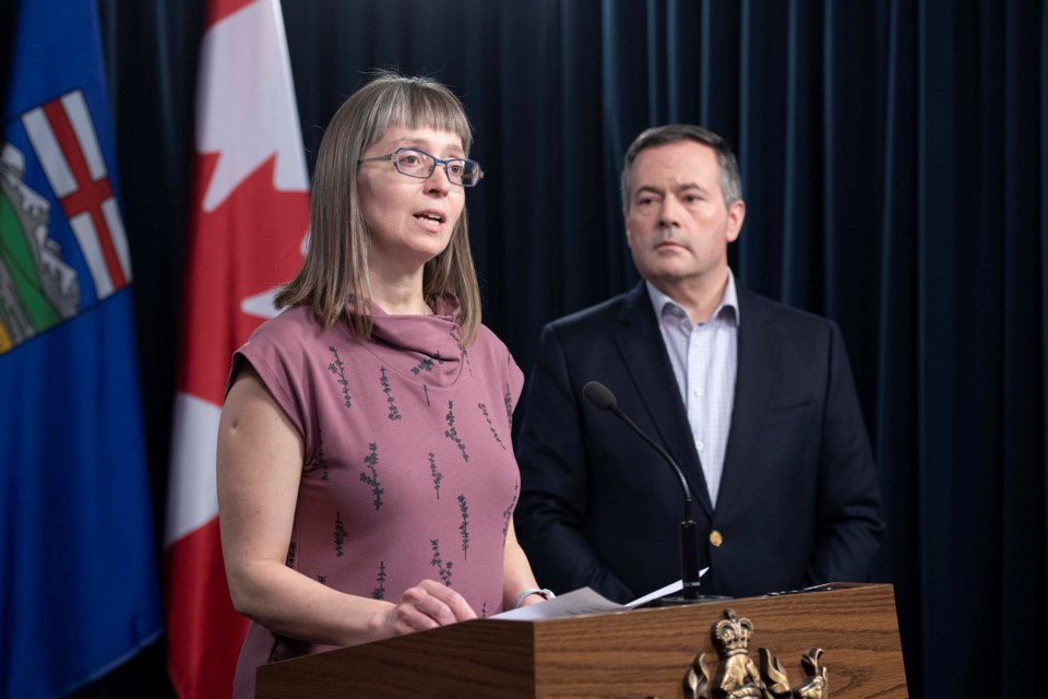 Alberta Chief Medical Officer of Health Dr. Deena Hinshaw and Premier Jason Kenney announced Wednesday the province will begin enforcing isolation measures.