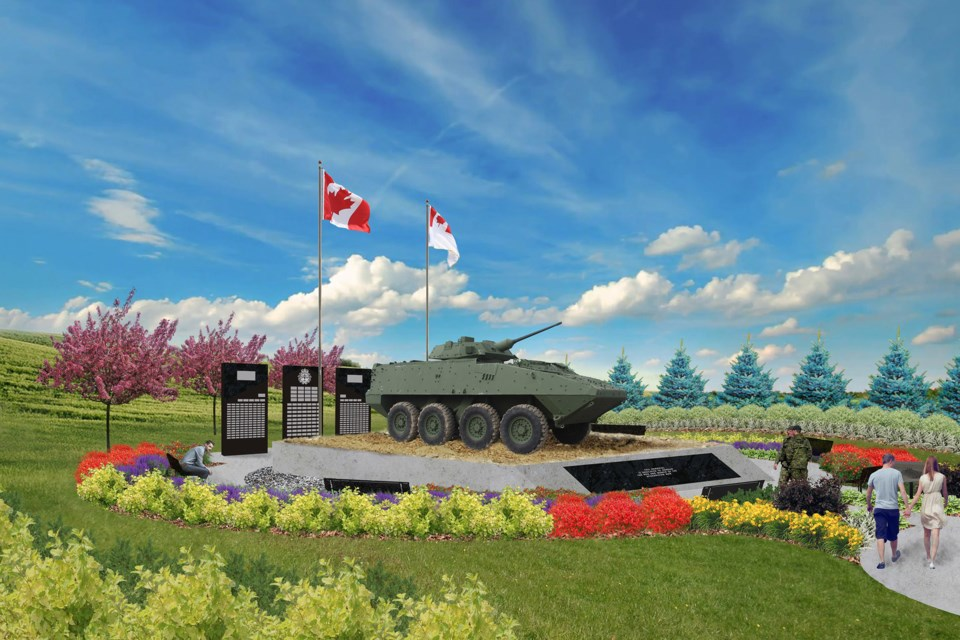 An artist's rendering of the proposed LAV III monument in Morinville. MORINVILLE LAV/Photo