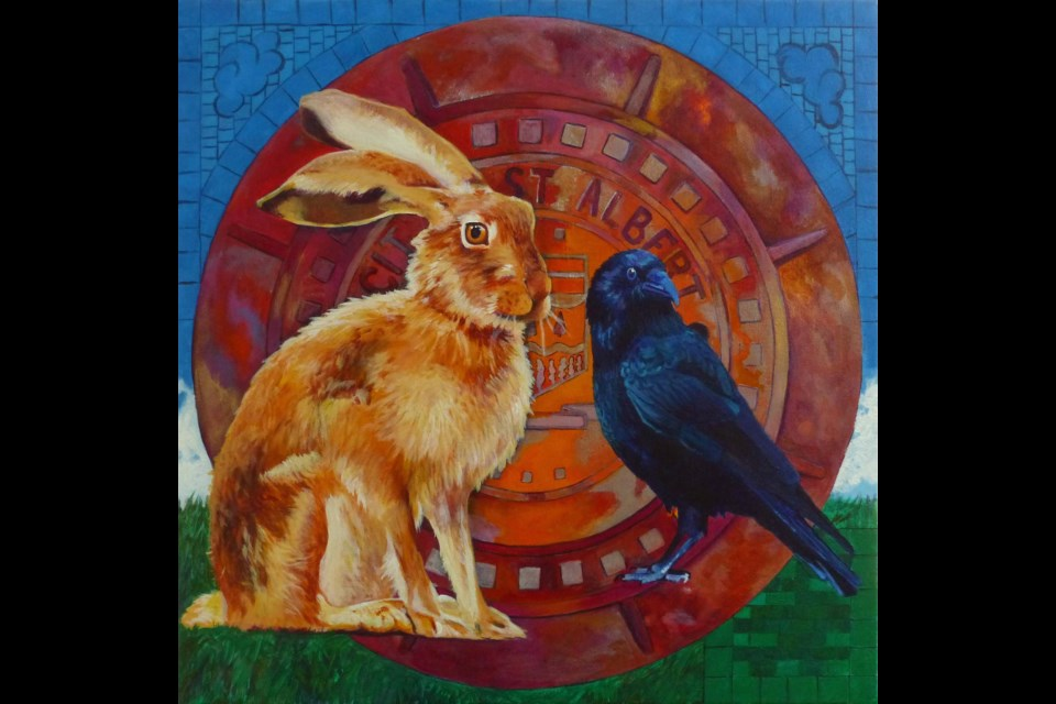 The Crow and The Hare by the late VASA artist Carla Beerens. She is the subject of the new retrospective exhibit opening this week. CARLA BEERENS/Photo