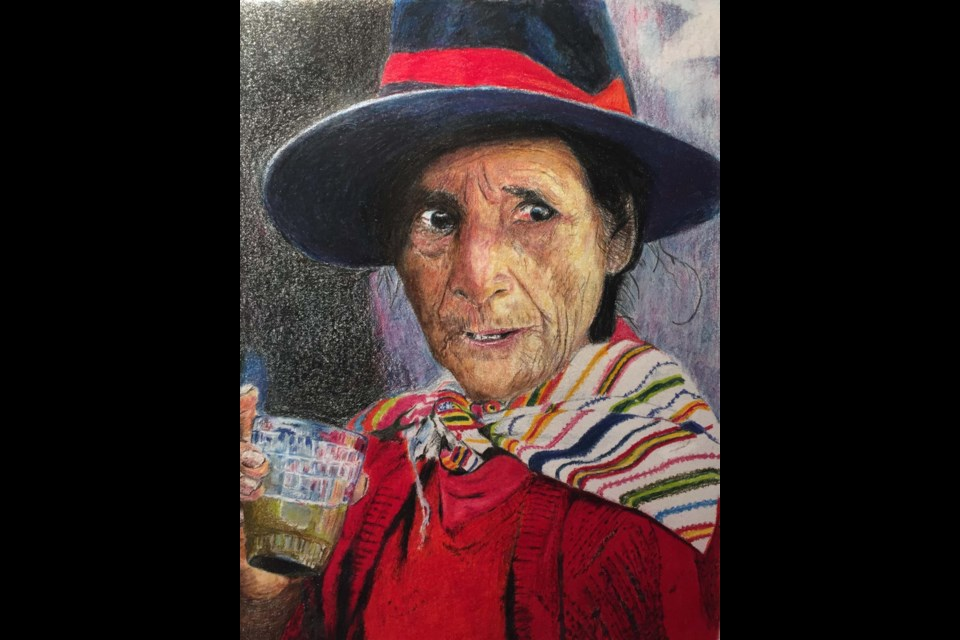 South American is a portrait painted by Wayne Gorman. Gorman's new exhibit Becoming begins its run at VASA this week with an opening reception to be held on Thursday. Gorman will be in attendance with Indigenous Elder Will Campbell. WAYNE GORMAN/Photo