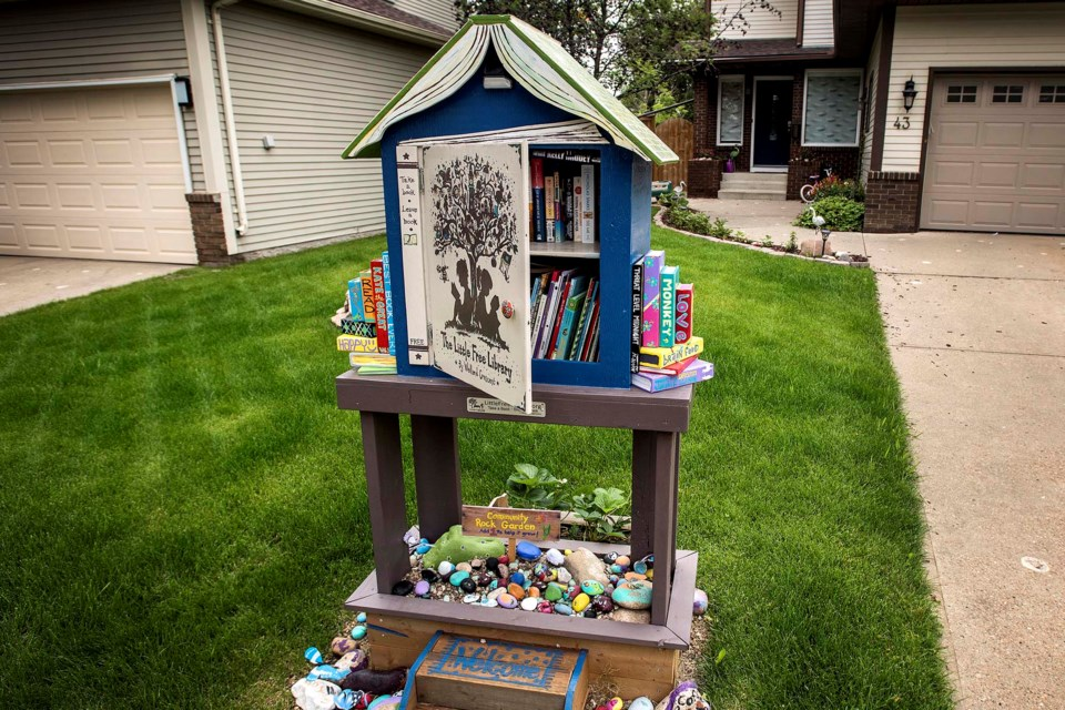Little Free Libraries are still popping up and staying popular as seen here on Welland Crescent in St. Albert on Tuesday, July 9, 2019.