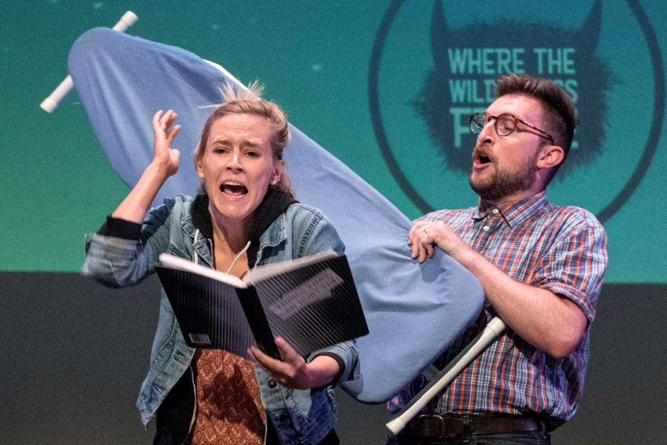 Almost, Maine by The Vanguard performs at the Fringe Festival's launch for Where the Wild Things Fringe in Edmonton August 7, 2019.