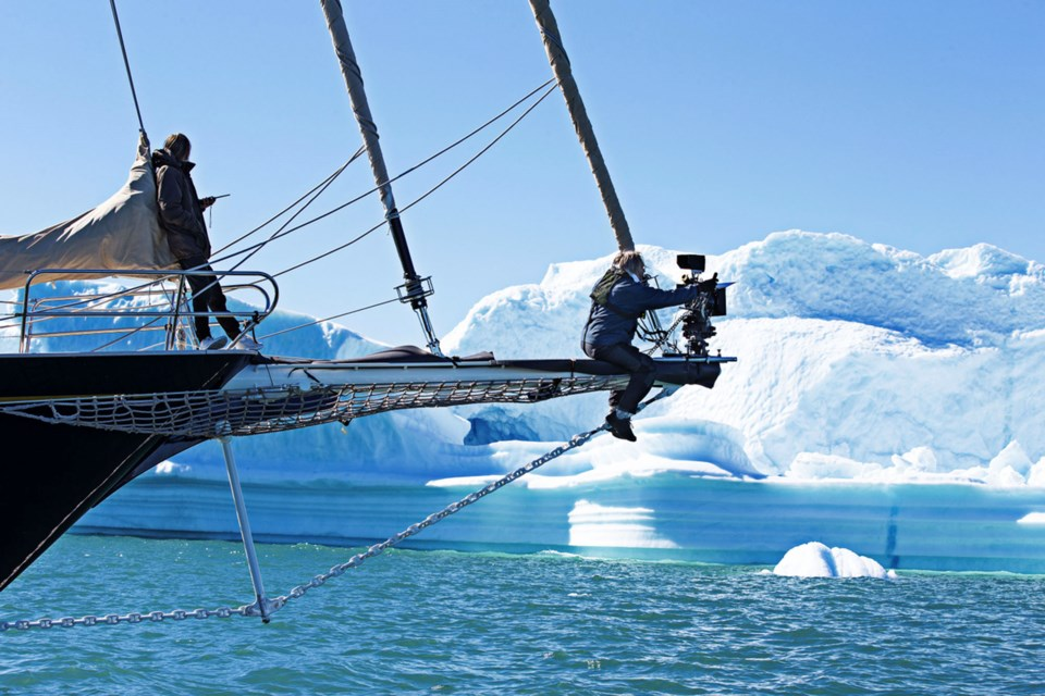 The Aquarela crew sets up a shot in Greenland. SONY PICTURES CLASSICS/Photo