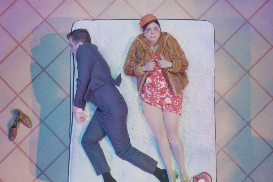 Mathew Hulshof and Kristen Padayas star in a streaming theatrical production of A Fit, Happy Life rolled out by Teatro La Quindicina until Oct. 31. ADAM KIDD