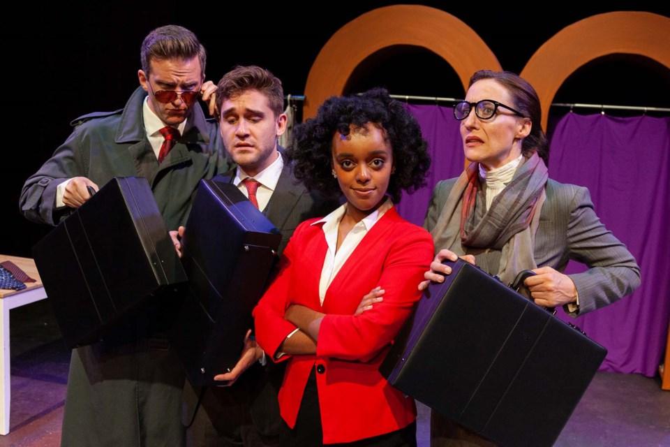 Andrew MacDonald-Smith, Chris Pereira, Helen Belay and Belinda Cornish in Teatro La Quindicina's Vidalia. MAT BUSBY/Photo